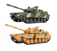PANDA SUPERSTORE Set of 2 Toy Tanks for Kids Military Vehicle Model Toy for Plas