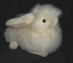 "16"" VINTAGE 1990 UNIPAK WHITE LAYING FUZZY BUNNY RABBIT STUFFED ANIMAL P... - $37.40"