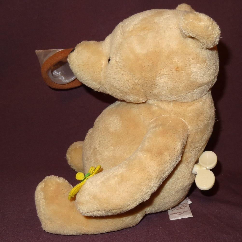 "Winnie The Pooh Disney Plush Stuffed Animal 8"" Music Box Butterfly Net Lullaby"