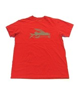 PATAGONIA Red Fish w/ Trident Short Sleeve T-Shirt Men's Size Large Made... - $34.60