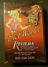 Riviera Hotel Casino Slot World Jackpots Las Vegas unSealed Deck Playing... - $9.45