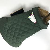 "NWT Good2Go Dog Barn Coat Jacket Green Thinsulate Sherpa Lined L-XL 18-20"" - $12.55"