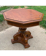 Thomasville Mid Century Burl Pecan End Table / Side Table  (RP) - $349.00