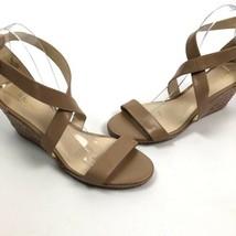 nine west jay open toe ankle strap wedge Espadrille heels Women's Size 9.5 - $19.76