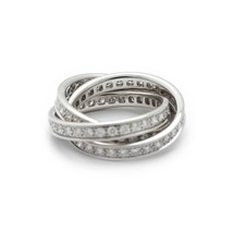 Cartier Diamond Trinity Ring 18K White Gold 1.55 cttw 8g - $6,929.01