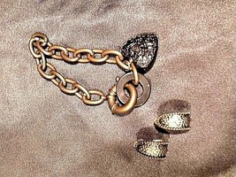 So Rachel by Longaberger Wristband and Studded Earrings AA18-1273-E Vintage #234 image 2