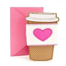 Hallmark Signature Mother's Day Greeting Card Removable Coffee Cup Sleeve - $9.28