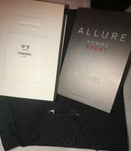 Chanel No 5 Edt & Allure For Men 0.05 Oz + Black Chanel Bag SAMPLE Spray - $16.15