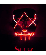 EL Wire DJ Party Festival Halloween Costume Neon LED Mask - $18.97