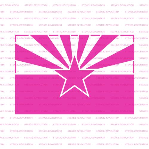 Arizona State Flag Stencil - Durable & Reusable Mylar Stencils