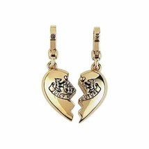 Juicy Couture Charm BFF Broken Heart Goldtone NEW - $67.32