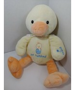Carters Just One Year yellow plush duck just hatched polka dot bow MUSIC... - $49.49