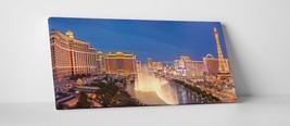 """Las Vegas Panoramic Skyline Gallery Wrapped Canvas Print. 45""""x16"""" - $129.15"""