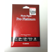 Canon PT-101 Platinum Series 4R 4 x 6 in Photo Paper Pro (20 Sheets), PT-101-4R- - $16.99