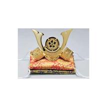 Golden Kabuto statue - Oda Nobunaga - with double cushion - Samurai Ninj... - $202.61