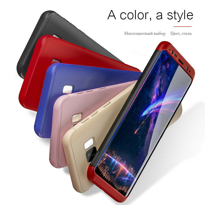 360 Full Coverage Phone Case For Samsung Galaxy S9 S8 Plus S6 S7 Edge PC