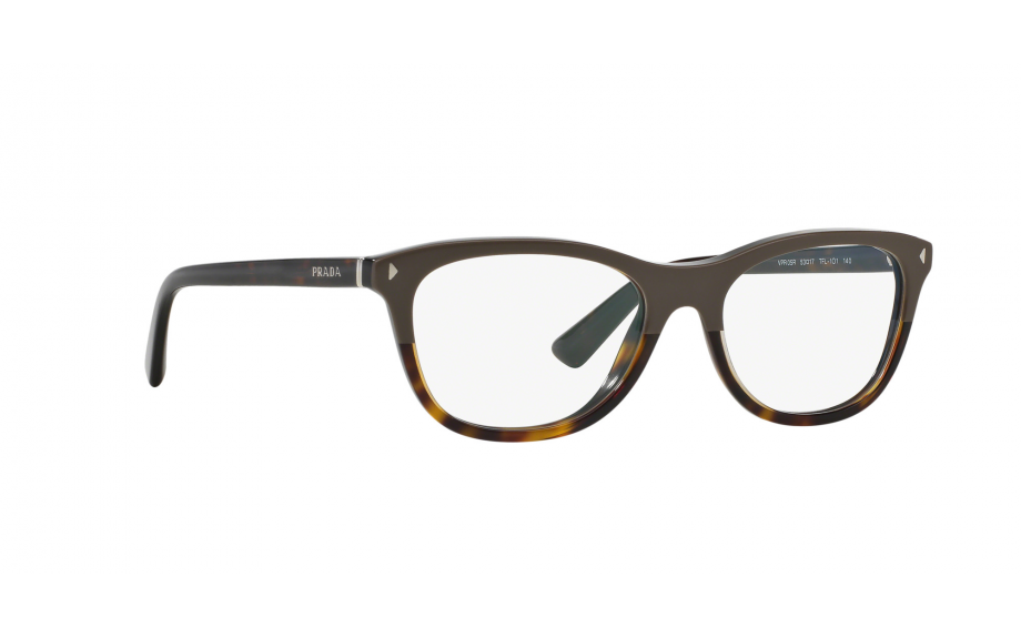 PRADA Eyeglasses PR05RV TFL1O1 53MM Grey-Havana /Rounded Square w/ Demo Lens