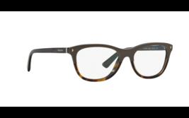 PRADA Eyeglasses PR05RV TFL1O1 53MM Grey-Havana /Rounded Square w/ Demo Lens - $118.79