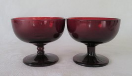 Anchor Hocking, Royal Ruby Sherbet Champagne, Red , 2 - $7.00