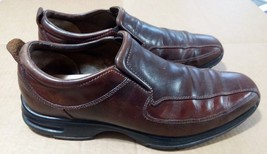 Cole Haan Air Mens 10M Mahogany Brown Leather Loafer SlipOn Casual comfo... - $27.88