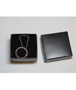 Ladies Womens Avon silvertone necklace circle infinite grape purple pink... - $29.69