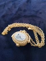 Vintage Signed TALBOTS Nantucket Basket Lighthouse Gold Chain Miniature ... - $22.99