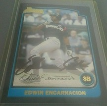 Edwin Encarnacion Auto Signature Card 2003 Bowman Draft Pick #129 - $14.80