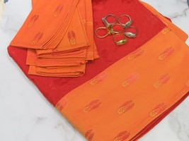 Egyptian Beetle Good Luck Red Orange 56x104 Tablecloth 6 Napkins 6 Rings... - $89.09