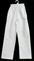 Meridy's White Elastic Waist Small Uniform Student Nurse Scrub Pants Bot... - $19.57