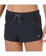Speedo Women Solid Board Fitness Shorts Black X-Large - $31.99