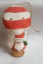 "6"" Hot Air Balloon-Christmas Santa plush Christmas xmas tree vimtage Ornament - $15.79"