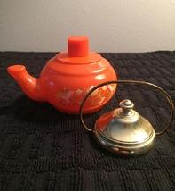 70s Avon Little Teapot with gold top and handle bath foam bottle (Lemon Velvet) image 2