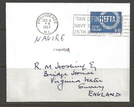 1967 Paquebot Cover, Finland stamp used in Providence, Rhode Island - $5.00
