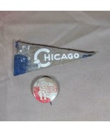 Chicago Cubs ca 1950's Mini Felt Pennant and Pinback - $21.49