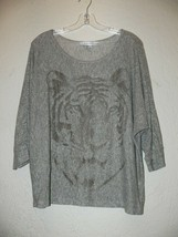 Forever 21 Womens Tiger Top Size Large  3/4 sleeve AM - $9.99