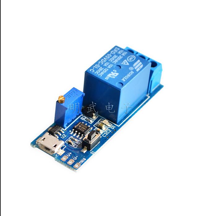 10PCS/LOT 5V-30V Delay Relay Timer Module Trigger Delay Switch Micro USB Power A