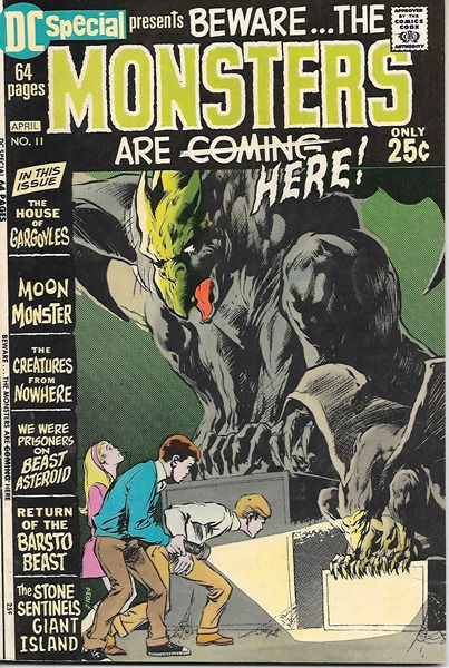 Primary image for DC Special Comic Book #11, Beware the Monsters 1971 VERY FINE-
