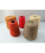 Vintage RAYON BOUCLE YARN CONE LOT of 5 Knitting Machine VALLEY FIBERS - $60.00