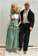 Barbie Dolls - Ken & Barbie (Black Tuxedo & formal dress) - $20.00