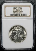 1942S  Walking Liberty Half Dollar 90% Silver Coin NGC MS63 Lot# A 461