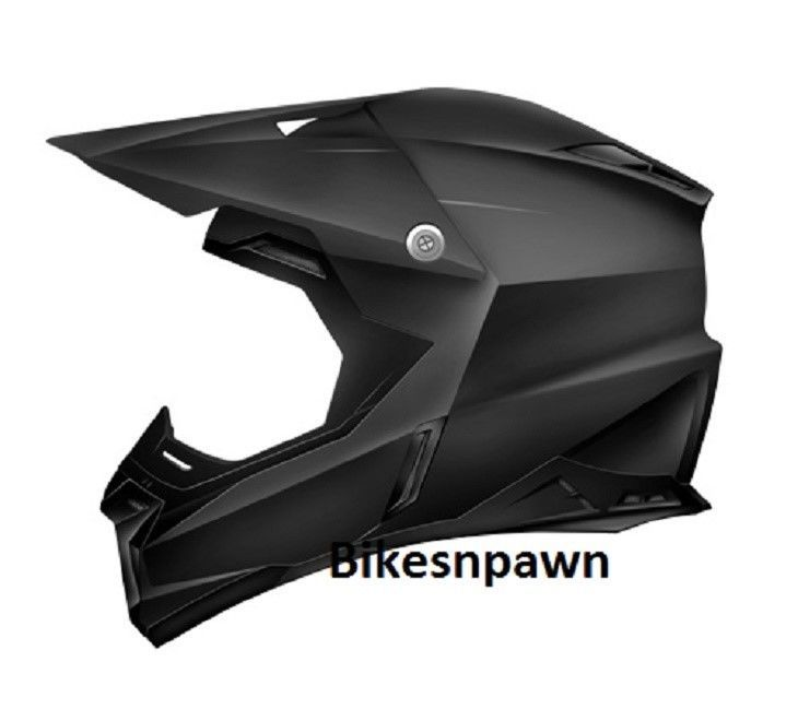 New Adult M Zoan Synchrony MX Matte Black Motorcycle Helmet 521-005