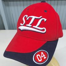 St. Louis STL 2004 Red Strapback Baseball Cap Hat - $15.59
