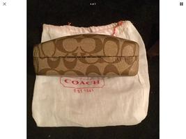 Coach Case Sunglasses Eyeglasses Brown Clamshell Hard W/Cloth & Linen Bag! - $10.49