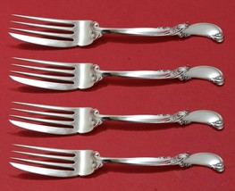 """Waltz of Spring by Wallace Sterling Silver Fish Fork Set 4pc AS Custom 7 1/4"""""""