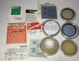 Camera Lens Filter Lot Samigon Tiffen Vivitar Soligor Vtg All Made in Japan - $47.03
