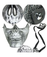 Skeleton Mask Halloween Party Festival Masquerade Half Face Scary Horror... - $5.95