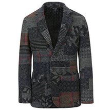 Monitaly Men's Patch Pocket Blazer M16000 (40, Patchwork) - $891.00