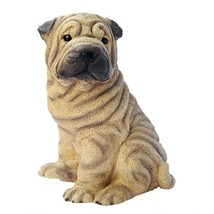 Shar-Pei Puppy Dog Statue Cute Man Best Friend Canine Outdoor Yard Patio... - $47.99