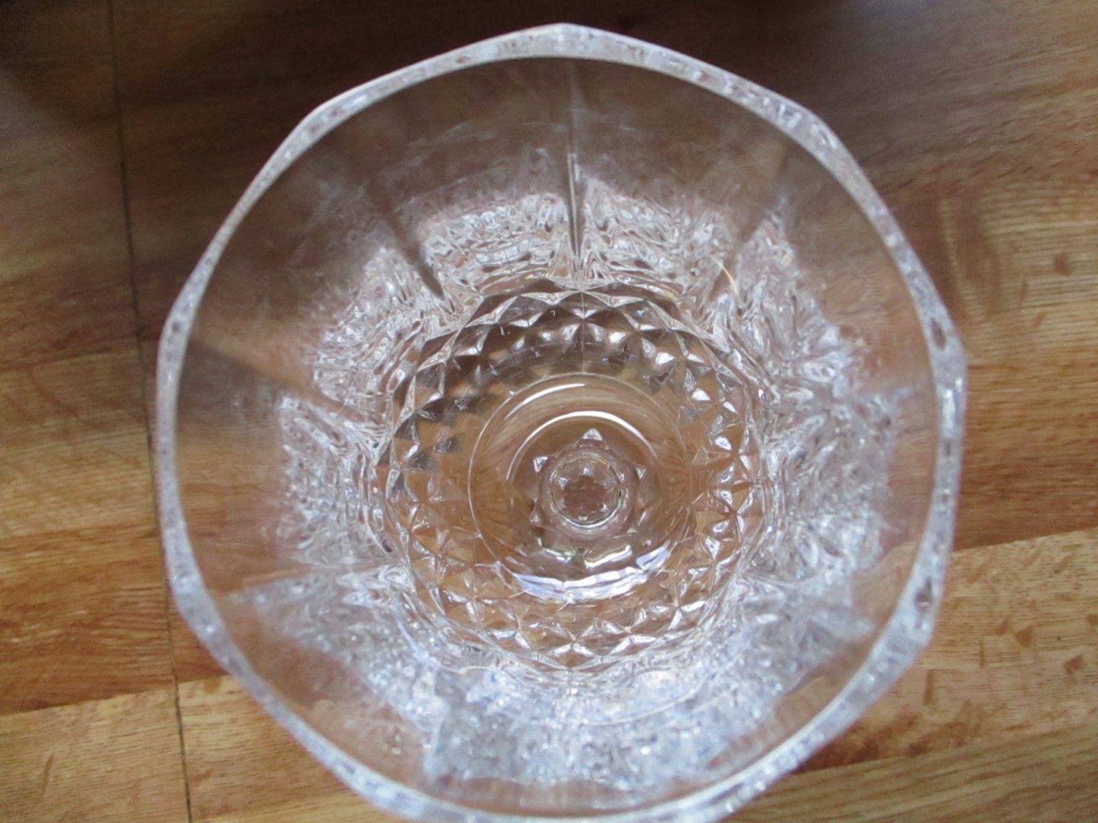 Beautiful Lead Crystal Clear Glass Wine Goblet Glass ~EUC~