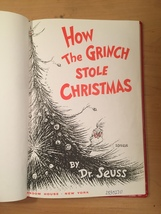 """Vintage """"How the Grinch Stole Christmas"""" red hardcover childrens book image 6"""